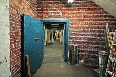 A Photo of a doorway in a brick wall with an open fire door. & Doors - Blanks Entry Doors Patio Doors Interior or Exterior Pre ...