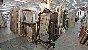 A photo of two of the main floor aisles with doors and antiques in view & Windows - Doors - For Sale Below Wholesale - Overhauseru0027s Outlet ...